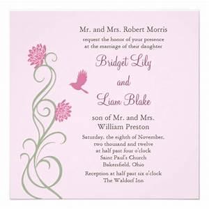 lotus flowers wedding invitation pink 525quot square With wedding invitations with lotus flower