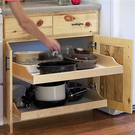 Roll Out Shelves For Kitchen Cabinets by 22 Quot Birch Pull Out Shelf Kit One Shelf 1 4 Quot Bottom Ebay