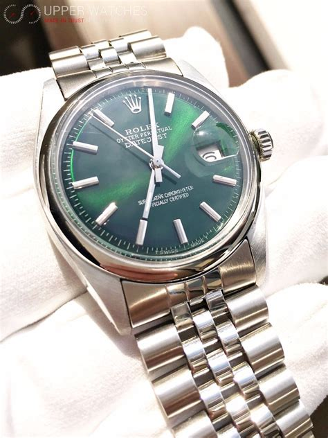 Rolex DateJust 1601 Green Hulk Dial - Upper Watches