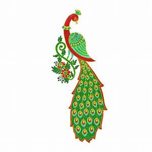 Peacock, Embroidery, Design