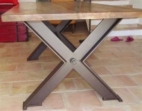 table de repas pied fer crois 233 c b atelier tinu tables metals and industrial