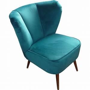 Fauteuil Bleu Canard : fauteuil cocktail bleu canard 1950 design market ~ Teatrodelosmanantiales.com Idées de Décoration