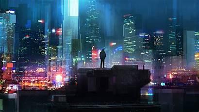 Cyberpunk 4k Alone Boy Wallpapers Background Futuristic