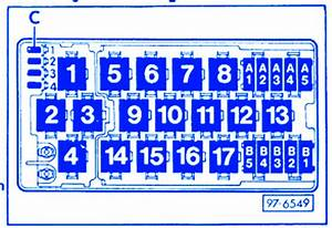 Audi S4 1998 Main Fuse Box  Block Circuit Breaker Diagram
