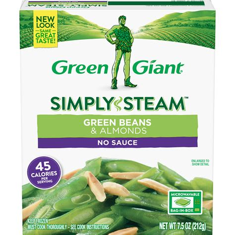 green giant simply steam green beans almonds