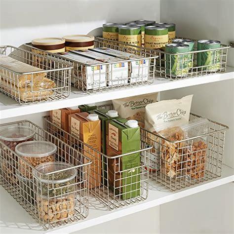 interdesign classico storage basket large metal wire