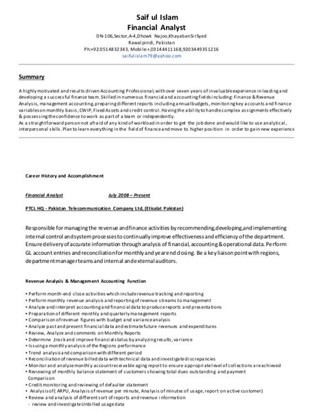 resume for financial analyst fresher resume financial analyst