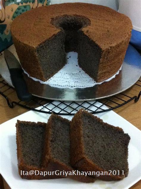 Resep chiffon cake cinnamon kenari harum lembutt. Dapur Griya Khayangan: Chiffon Cake Ketan Hitam