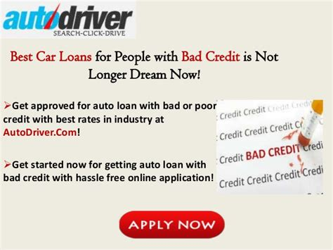 Best Car Loans For People With Bad Credit, Get Auto