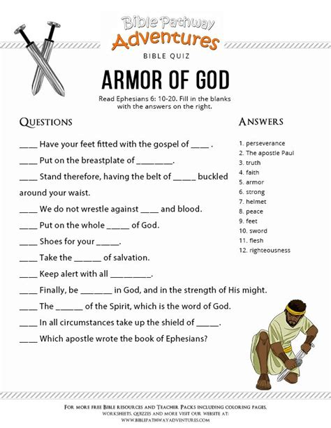 19 best armor of god bible crafts