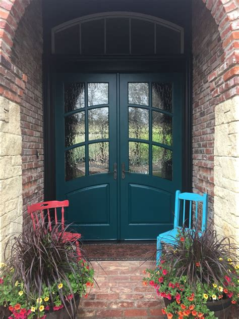 sherwin williams blue peacock brick exterior house
