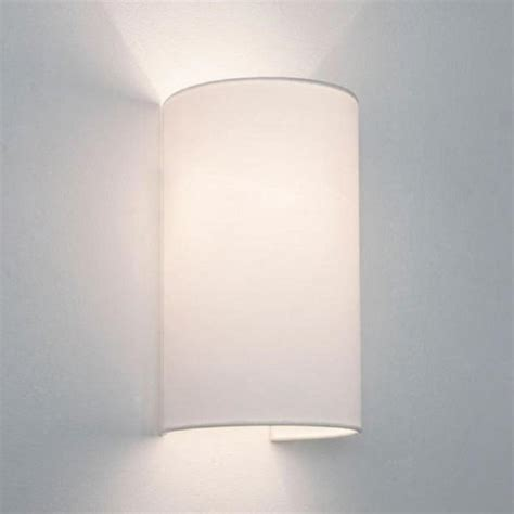 cylindrical white fabric wall light will wash walls with light