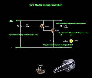 Free Circuit Diagrams 4u  Simple Motor Speed Controller Circuit Diagram