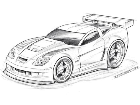 Easy Car Drawings Corvette (8 Image)