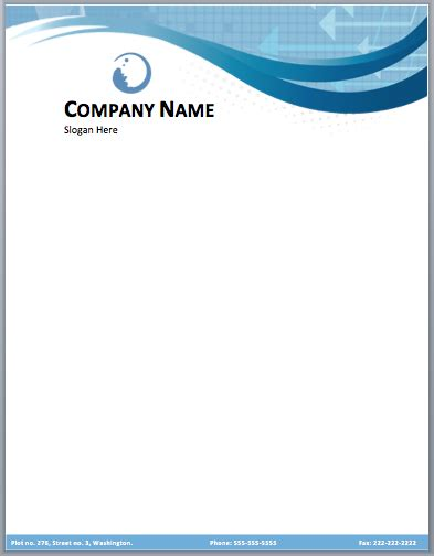company letterhead templates excel  formats