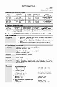 sample resume for chartered accountant articleship resume With sample resume for ca articleship training