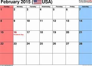 february 2015 calendars for word excel pdf With calendar template for february 2015