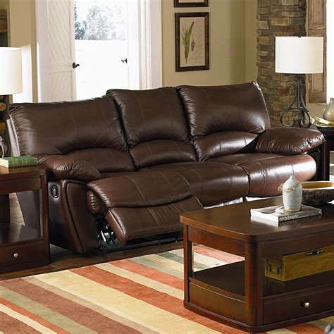 tan leather reclining sofa 1209 50 clifford brown leather double reclining sofa