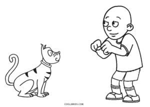Gilbert And Caillou Pages Coloring Pages