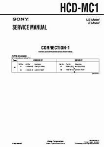 Sony Hcd-mc1 Service Manual