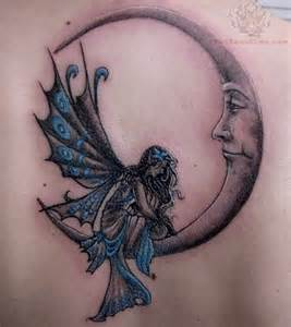 Fairy Moon Tattoo Designs