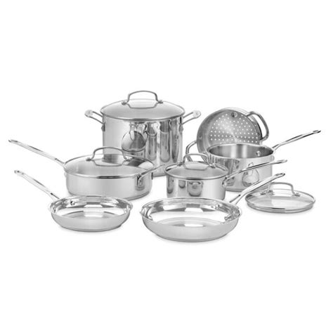 chef cuisinart stainless steel cookware piece classic