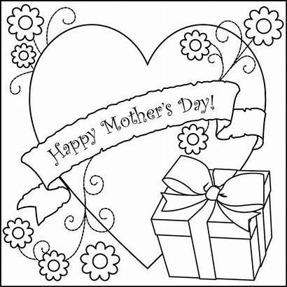Coloring Mothers Pages Mother Printable Cards Sheets