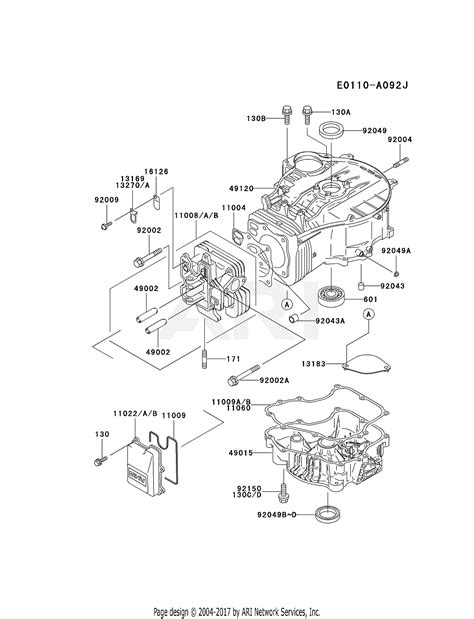 kawasaki fcv hs  stroke engine fcv parts diagram