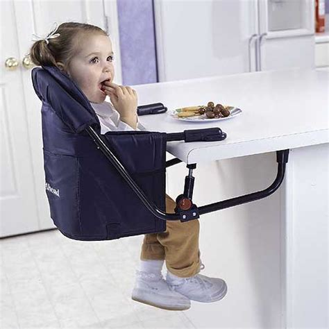 regalo attachable high chair new easy diner blue portable hook on table travel baby