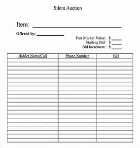 silent auction bid sheet free silent auction bid sheets With silent auction catalog template