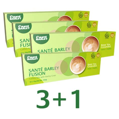 Blended with one of nature's most potent sweeteners, stevia, this product is best taken before meals. 3+1 FREE- SANTE BARLEY FUSION COFFEE MIX 10-SACHETS · Metro Imports · Online Store Powered by ...