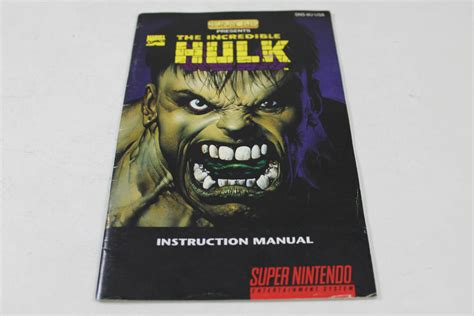 Manual The Incredible Hulk Snes Super Nintendo