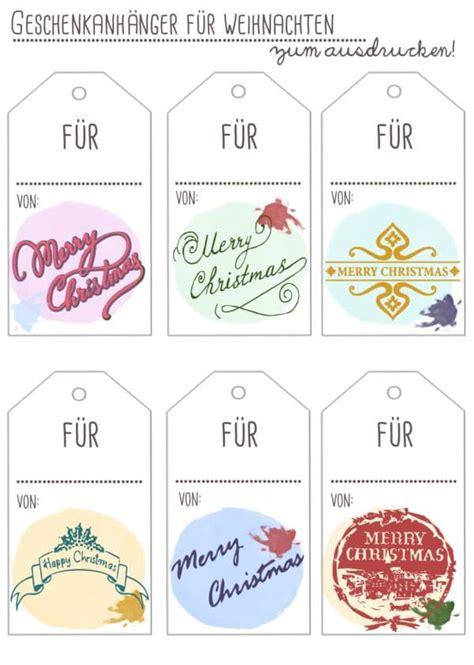 geschenkanhänger weihnachten ausdrucken freebies geschenkanh 228 nger zum ausdrucken handmade kultur