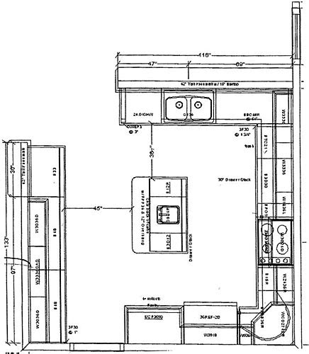 kitchen island floor plans favorite 15 kitchens with islands floor plans photos