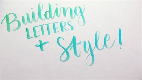 diy modern calligraphy part  youtube