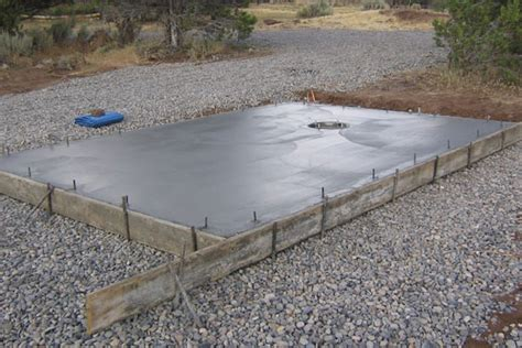 how to pour a concrete pad
