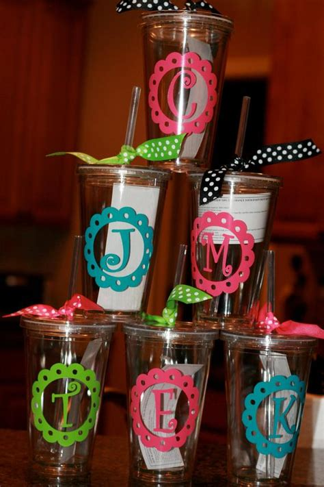 items similar  acrylic cups  monogram  initial  scallop  etsy