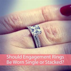 should sterling silver cz engagement rings be worn single With where should the wedding ring be worn
