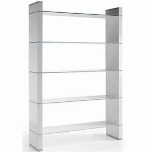 Etagere Bois Design : etag re design bois et verre nora une exclu aty achat ~ Teatrodelosmanantiales.com Idées de Décoration