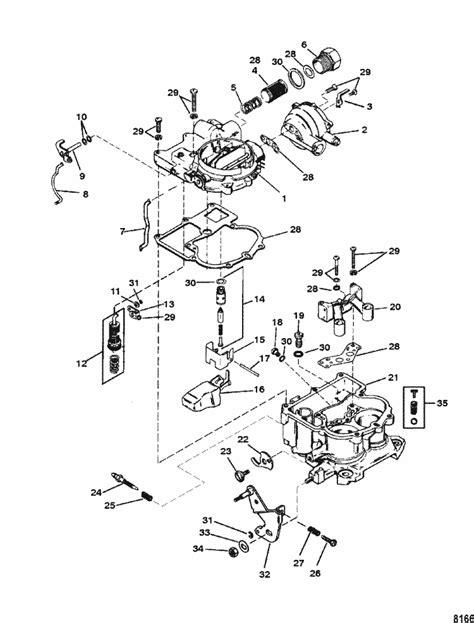 mercruiser  gm    carburetor mercarb parts