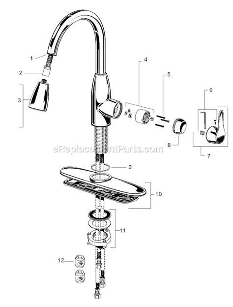 standard kitchen faucet repair standard 4175 300 f15 parts list and diagram