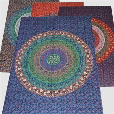 Tagesdecke Bettüberwurf Mandala Flowers Wandbehang Decke