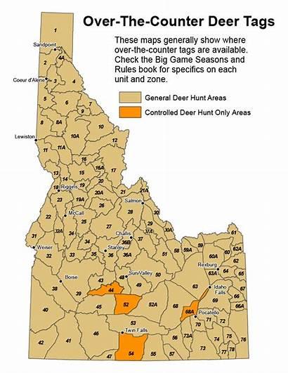 Idaho Map Hunting Unit Deer Counter Areas