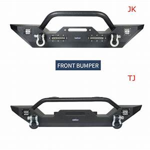 Hooke Road Front Bumpers W  Winch Plate Fit Jeep Wrangler