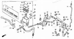 honda atv parts 2000 trx300 a front brake master cylinder With diagram of honda atv parts 2000 trx300 a battery diagram