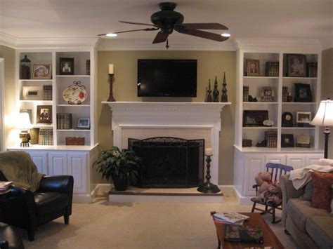 Decorating Ideas Around Fireplace by Built In Bookcases Around Fireplace Images