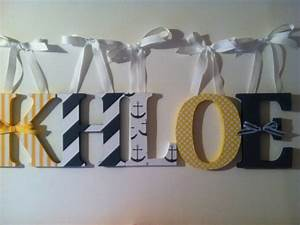 items similar to nautical themed wooden letters for With nautical themed letters