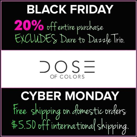 coupon code for dose of colors black friday cyber monday deals 2015