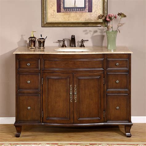 48 vanity with top and sink 48 quot travertine countertop bathroom single vanity lavatory