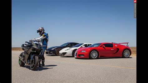bugatti veyron vs kawasaki h2r 2015